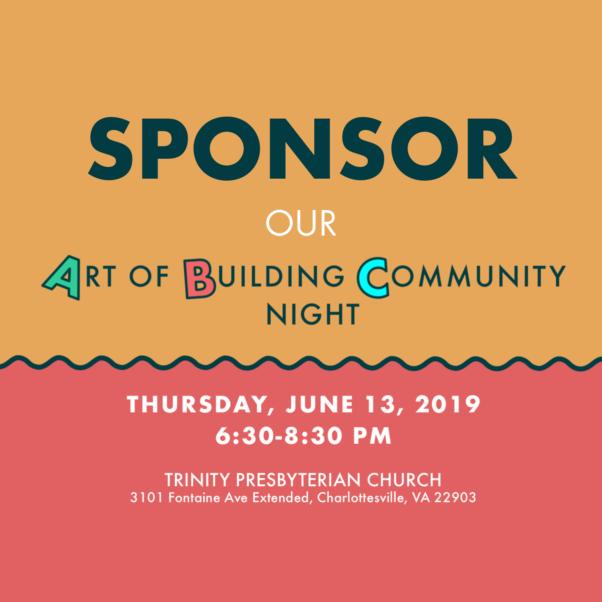 Sponsor Art of Building Community